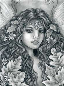 Celtic Fairy - add color but this is her face