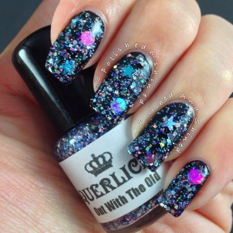 """Polished And Shined: Laquerlicious """"Out With The Old"""", indie nail polish, New Years nails"""
