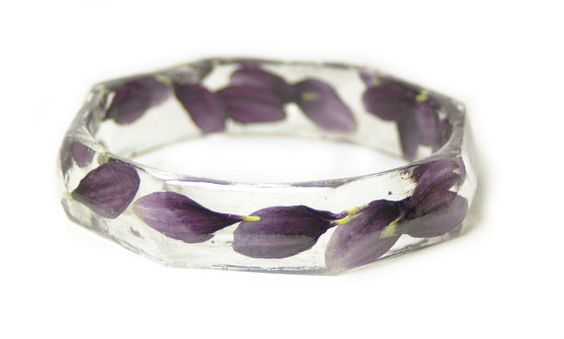 Jewelry made with Real Flowers  Real Flower by ModernFlowerChild, $38.00
