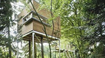 This tree house is from Germany.