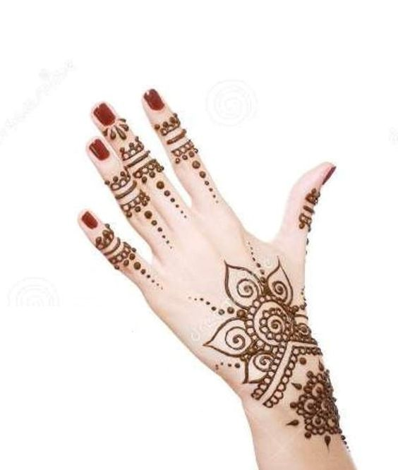 Simple Latest Henna Designs for Hands                                                                                                                                                      More