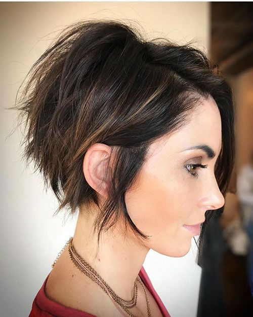 Short Messy Hairstyles For Thick Hair Short Hair With Layers Short Hair Trends Short Hair Styles Easy