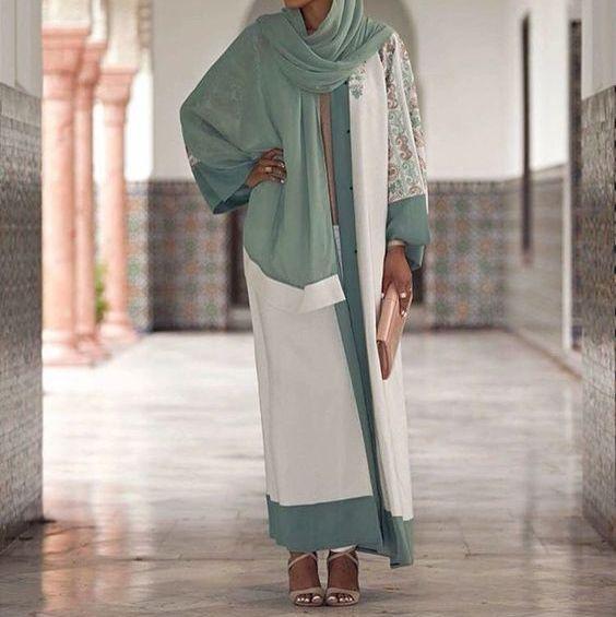 اجدد موديلات العبايات الملونة اخر شياكة 2019 Beautiful And Stylish Abaya Designs Fashion City Outfits Muslim Fashion