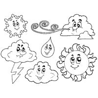 Page Weather Coloring Sheets