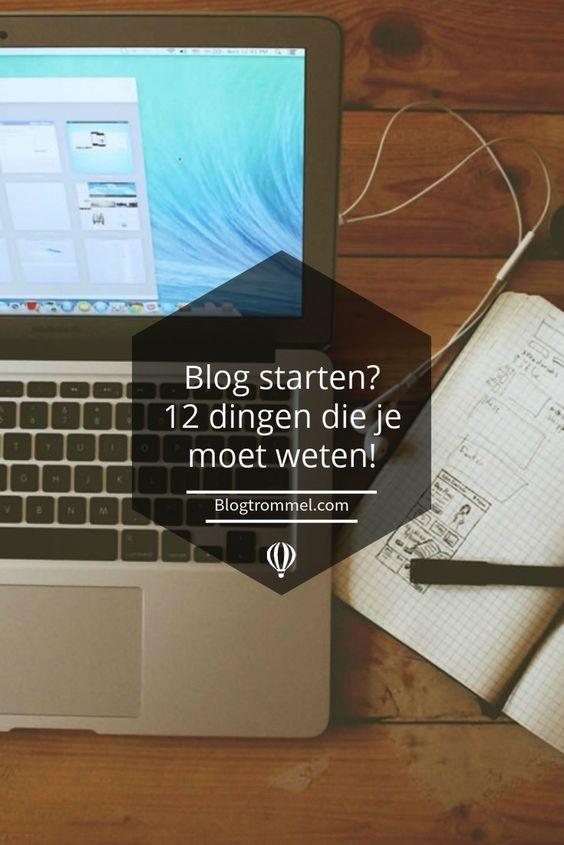 http://www.blogtrommel.com/kennisbank-bloggen/een-blog-beginnen/blog-starten-12-dingen-waar-je-moet-op-letten/ Wil je een blog beginnen? Dit zijn de 12 dingen die je moet weten voor je één letter hebt geblogd...