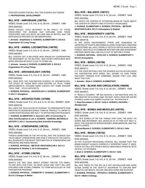 Bill Nye Global Warming Worksheet - Worksheets