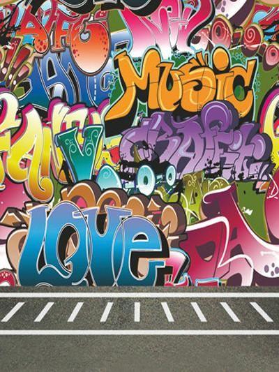 Kate Colored Graffiti Wall Backdrop With Concrete Floor For Photography Graffiti Wallpaper Graffiti Wall Graffiti Designs