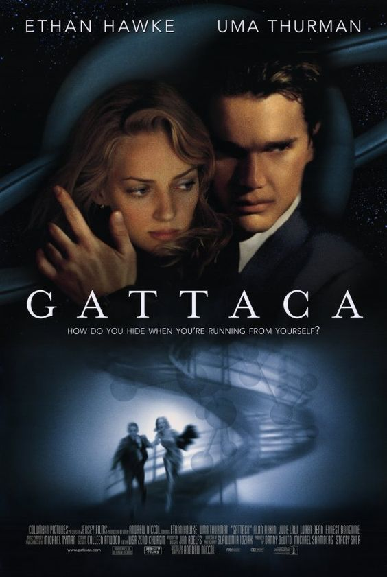 Directed by Andrew Niccol.  With Ethan Hawke, Uma Thurman, Jude Law, Gore Vidal…