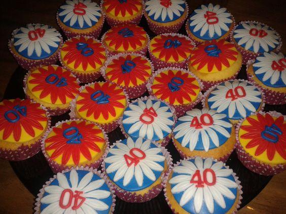 40ste verjaardag muffins