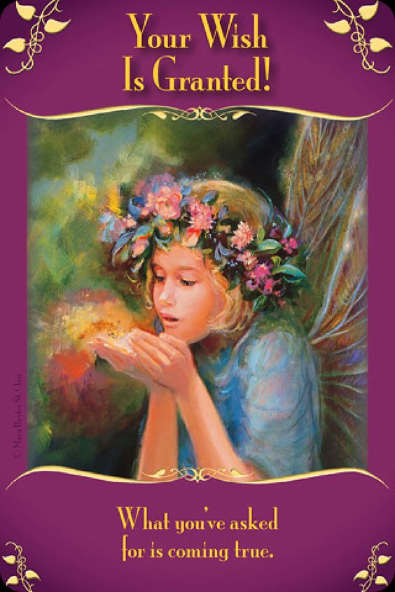 From the Messages from the Fairies deck by Doreen Virtue