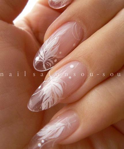 マーガレット ~ステンドグラス~|nail salon 爪装 ~sou-sou~ (入間・狭山・日高・飯能 自宅ネイルサロン)