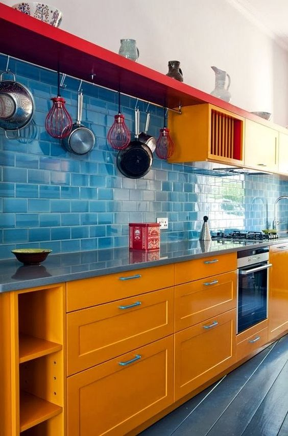 Cozinha corredor - decoração