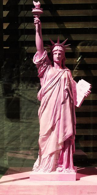 PINK Statue Of Liberty.....much better color I think!...