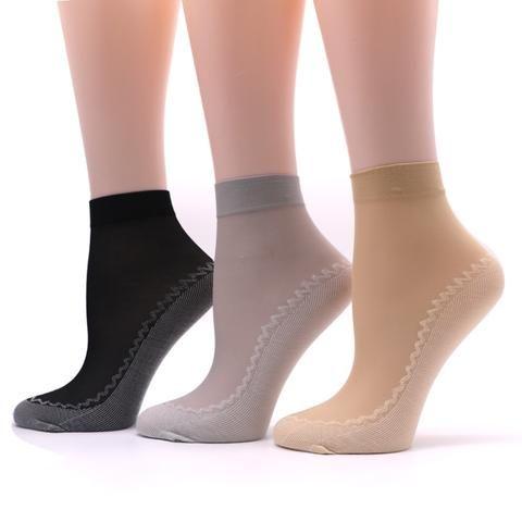 Glitter Ankles Socks Vintage Women Girl Spring Summer Shiny Thin Casual Sock New
