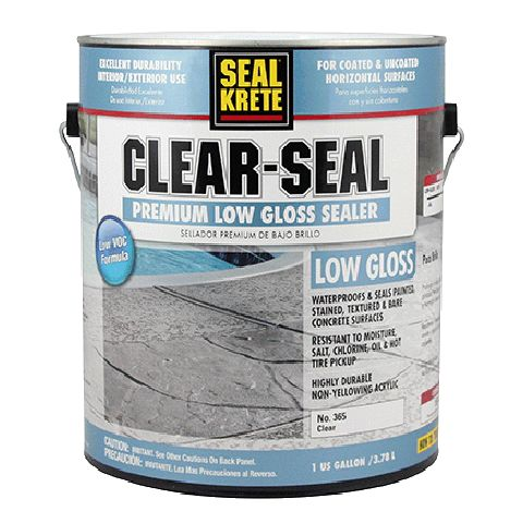 Seal Krete Clear Seal Concrete Protective Sealer Is A Ready To Use Premium Sealer That Penetrates Concrete Sealer Garage Floor Epoxy Painted Concrete Floors
