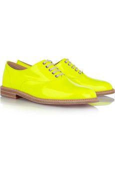 neon brogues