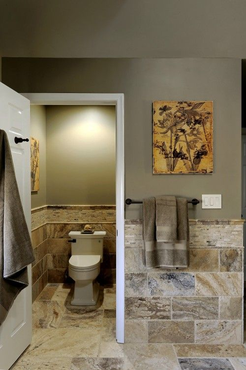 Tile toilets and toilet closet on pinterest for Jack and jill closet design