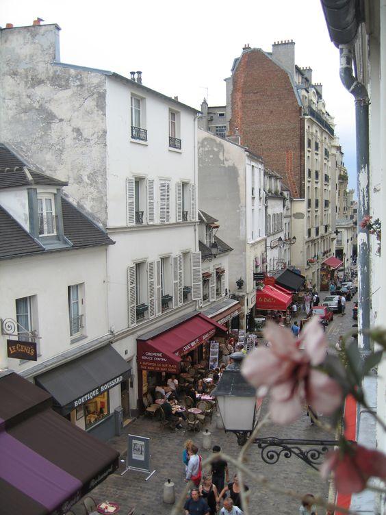 Out the Window @ the top of Paris, Rue du Mont Cenis, 18ième