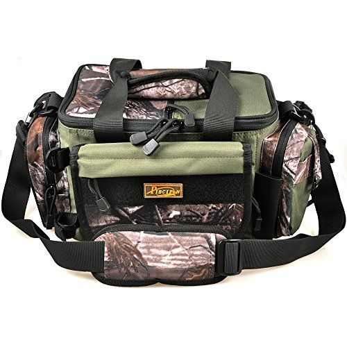 piscifun fishing tackle bag soft sided gear bag storage army green, Reel Combo