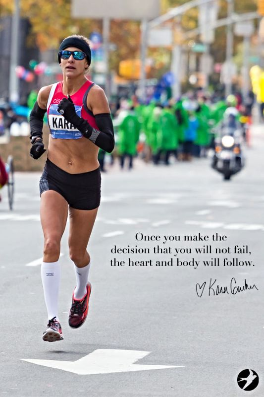 Part one in the series: head versus heart. Read the story behind Kara Goucher's quote.