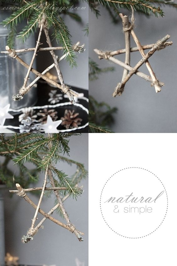 Twig Stars-nice camping craft with kids