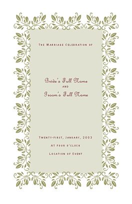 Wedding program flora design microsoft office template for Event program template publisher