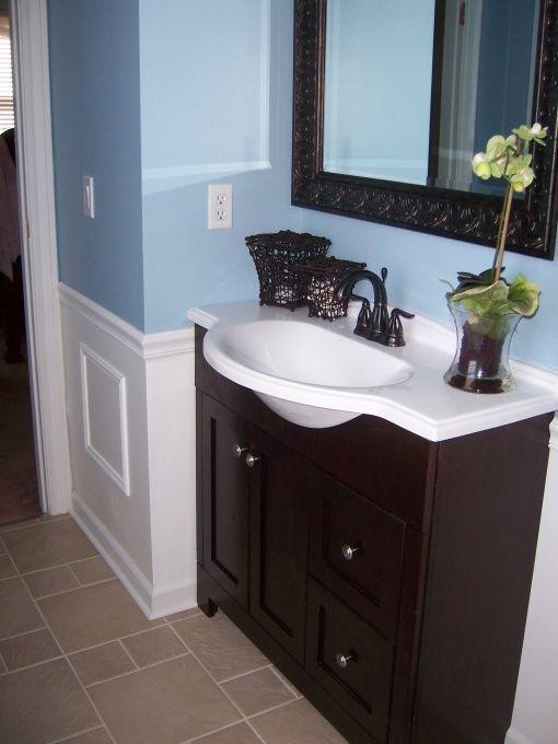 Brown Bathroom Decor, Blue Brown Bathroom Ideas