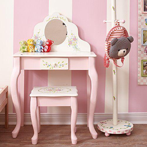 Fantasy Fields Ballerina Vanity Table And Stool Kids Bedroom
