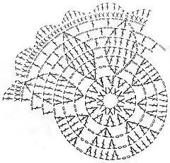 Telpatroon madelief zw klein cropped (Ignesaletheia) Tags: chart pattern crochet daisy coaster doily counting
