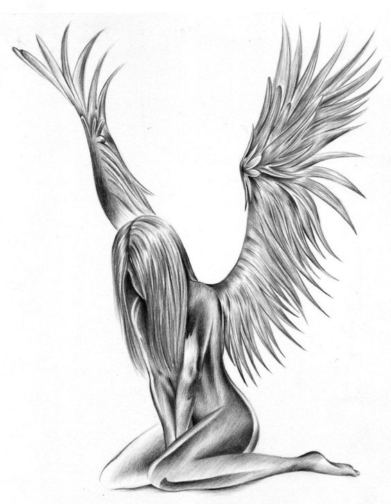 Disegno-per-tatuaggio-angelo-custode.jpg (736×951)