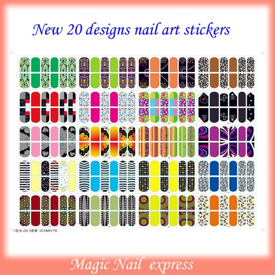 New 2013 nail art sticker nail foil tips decal adesivos sticker 20 designs peacock 3D nail wraps
