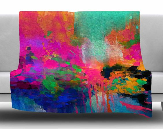 Montesilvano-Abstract by Oriana Cordero Fleece Blanket