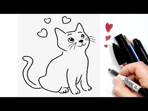 رسم سهل رسم قطة سهلة خطوة بخطوة تعليم رسم قط بسهولة تعلم الرسم Youtube Fictional Characters Character Art
