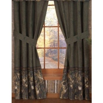 Browning Buckmark Whitetails Drapes / Curtains. | Camo Curtains ...