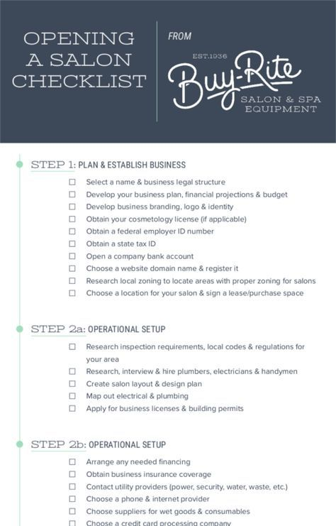 Opening A Salon Checklist How To Open Your Own Hair Salon Hair Salon Business Home Hair Salons Salon Openings