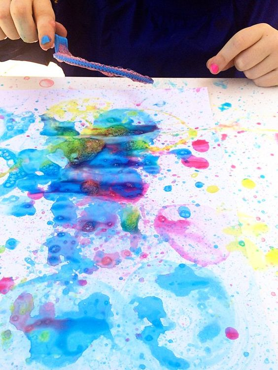 2 ingredient Bubble Blower Painting