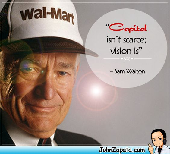 """""""Capital isn't scarce;Vision is""""  #quotes"""