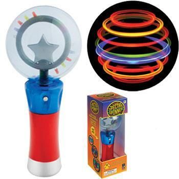 Light up globe spectra spinner wand sensory fidget toy for Light up fishing spinners