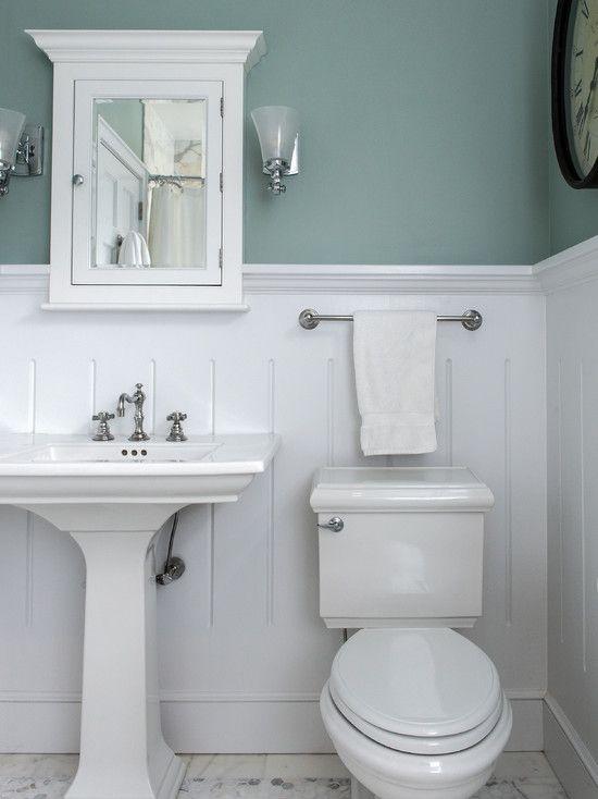 Pinterest the world s catalog of ideas for Chair rail ideas for bathroom