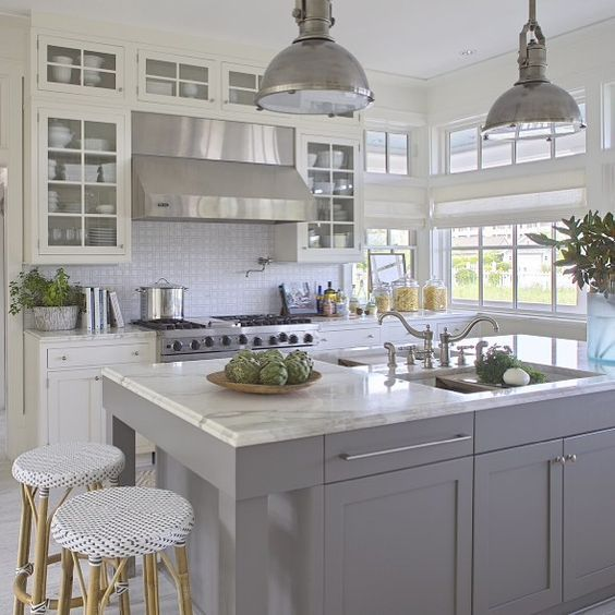 Grey And White Kitchens: Grey And White Kitchen By Urban Grace Interiors (via