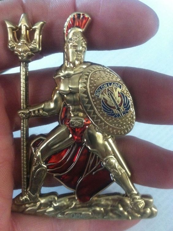 Spartan Warrior Navy Chief Coin Cpo Coin Challenge Coin