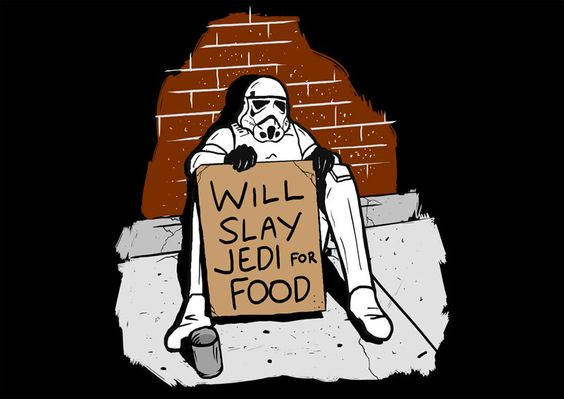 Homeless Storm Trooper