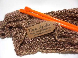 Lenço em tricot