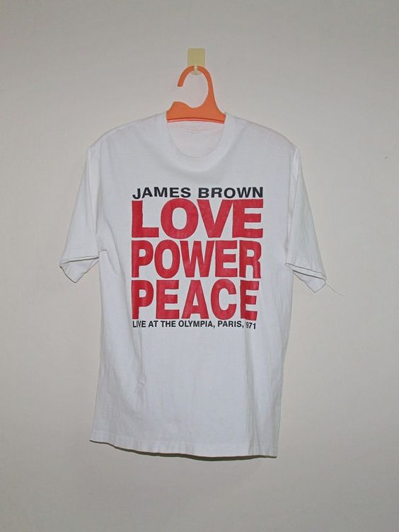 SALE // SUPREME James Brown // Large // Love Power Peace // Live At The Olympia Paris // 1971 // 90s // tee shirt // vtg // vintage! by ArenaVintage