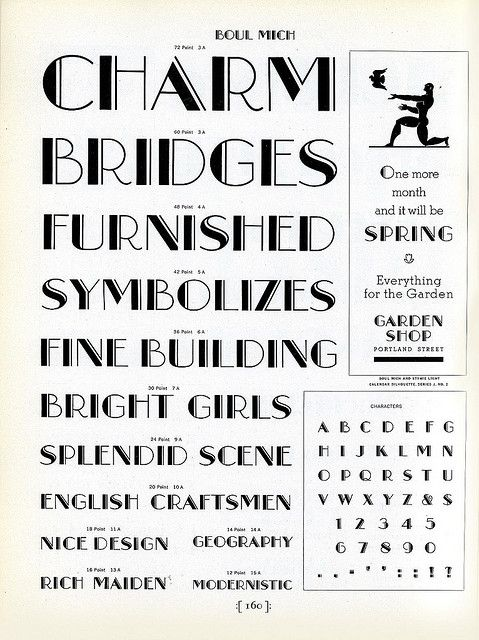 Typography- c1934 Boul Mich   Flickr - Photo Sharing!