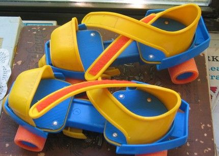Fisher Price roller skates~dang! flashback! I had these when I was 4!! Gotta love adjustable skates lol