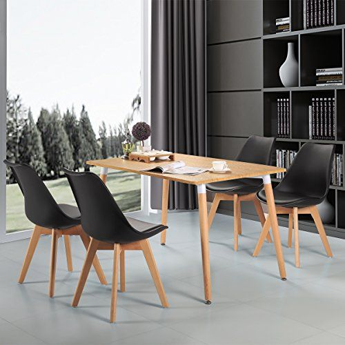 Upholstered Eames Style Dining Chair Kitchen Chairs Molded Plastic