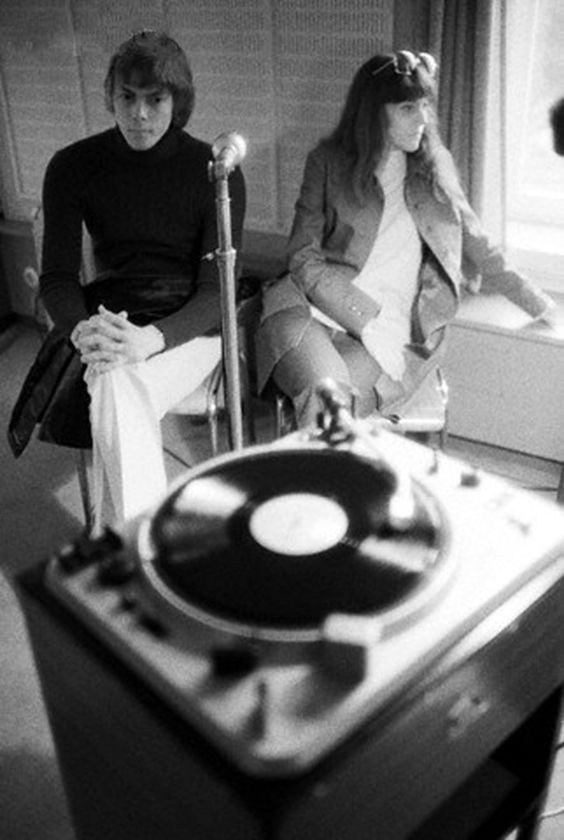 Shepard Sherbell -  The Carpenters listen to a recording of Superstar being broadcast on a Paris radio station, 1971.