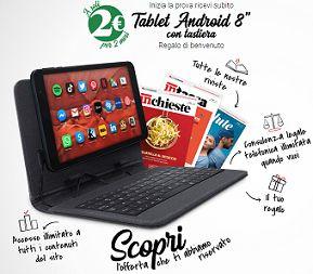 Come Avere un TABLET ANDROID 8 CON TASTIERA E COVER Con Altroconsumo
