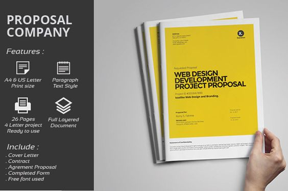 MS Word Project Proposal Brochure Template Brochure Template - project proposal template word
